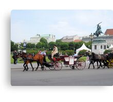 Austria - horse and buggy ride Canvas Print