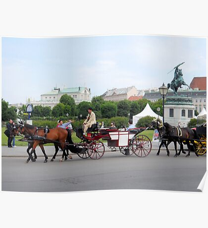 Austria - horse and buggy ride Poster