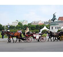 Austria - horse and buggy ride Photographic Print