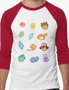 Kanto Stickers Men's Baseball ¾ T-Shirt