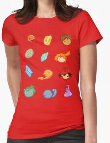 Kanto Stickers Womens Fitted T-Shirt