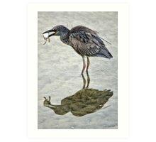 Low Tide Snack Art Print