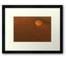 Martian Anomaly Framed Print