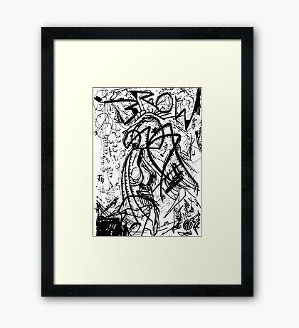 074 Framed Print
