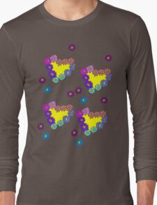 Hearts Composed of Flowers Long Sleeve T-Shirt