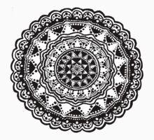 Black and white Mandala 1. Kids Tee