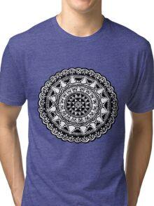 Black and white Mandala 1. Tri-blend T-Shirt