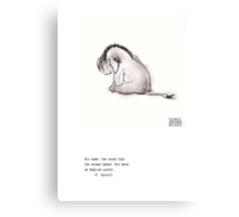 Haiku Eeyore Canvas Print