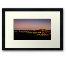 Uluru Moonrise Framed Print