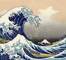 'The Great Wave Off Kanagawa' by Katsushika Hokusai (Reproduction) by Roz Abellera