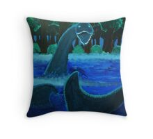 The Loch Ness Monster Throw Pillow