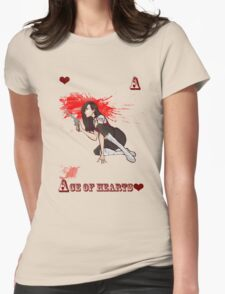 Ace of Hearts Womens Fitted T-Shirt