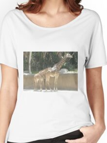 Parent and Child Giraffe 2 Women's Relaxed Fit T-Shirt
