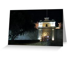 Into The Silent City Greeting Card