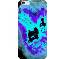 Purple and Blue Phoenix with black background iPhone Case/Skin