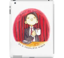black as midnight on a moonless night iPad Case/Skin