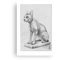 Alabaster Vase in the Shape of a Cat Canvas Print