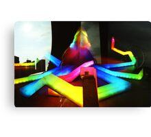 Rainbow Octopus vs Big Wheel - Lomo Canvas Print