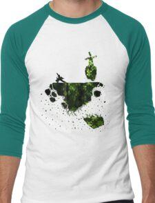 floating earth Men's Baseball ¾ T-Shirt