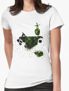 floating earth Womens Fitted T-Shirt
