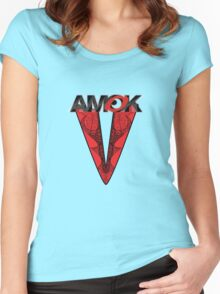AMOK - tribal waves Women's Fitted Scoop T-Shirt