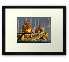 Visitors Framed Print