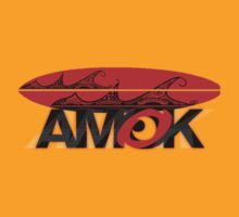 AMOK - tribal wave surfboard by dennis william gaylor