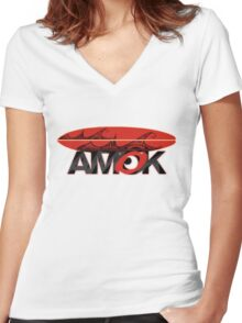 AMOK - tribal wave surfboard Women's Fitted V-Neck T-Shirt
