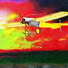 A digital painting of the Blackburn Monoplane type D 1913 by Dennis Melling