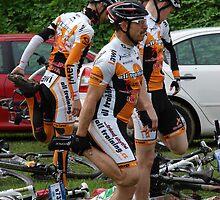 Mladá Boleslav TOUR CZ - racing mountain bikes I. / morning warm-up before the race by Natas