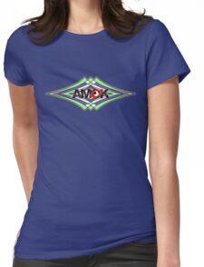 AMOK geometric waves Womens Fitted T-Shirt
