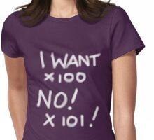 I WANT WHITE TEE SHIRT/KIDS TEE Womens Fitted T-Shirt
