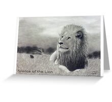 Silence of the Lion Greeting Card