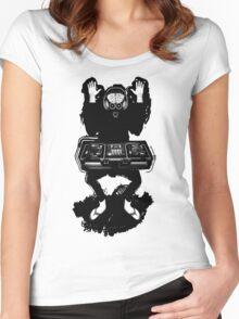 ALIEN DJ T-SHIRT Women's Fitted Scoop T-Shirt