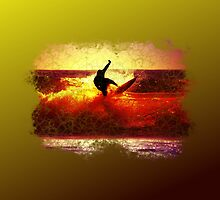 SUNSET SURFER. by BIG-DAVE