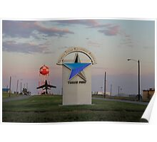 Sunrise at North Texas Regional Airport Poster