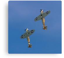 Sea Hurricane X AE977 and Spitfire Ia AR213 Canvas Print