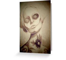 Tattooed Lady Greeting Card
