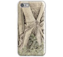 Faded view of a rainforest tree iPhone Case/Skin