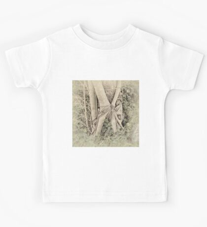 Faded view of a rainforest tree Kids Tee