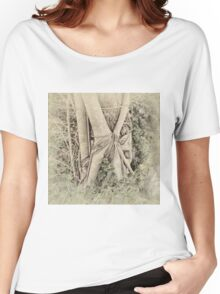 Faded view of a rainforest tree Women's Relaxed Fit T-Shirt