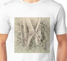 Faded view of a rainforest tree Unisex T-Shirt