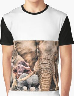 """A """"BIG 5"""" TEESHIRT DESIGN, ALL THE WAY FROM AFRICA ! Graphic T-Shirt"""