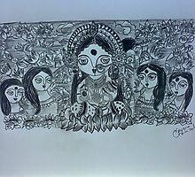 Maa Durga by nayana chakraborty