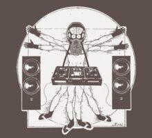 VITRUVIAN ALIEN DJ T-SHIRT One Piece - Short Sleeve