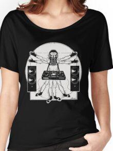 VITRUVIAN ALIEN DJ T-SHIRT Women's Relaxed Fit T-Shirt