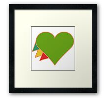 You are loved. Framed Print