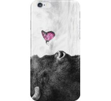 Bison and Butterfly (landscape format) iPhone Case/Skin