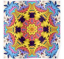 The Sunshine Kaleidoscope, abstract fractal wallart Poster
