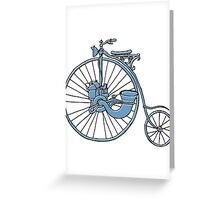 Steam Punk Penny Farthing Greeting Card